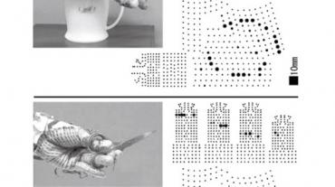 応用例:手の圧力分布の高密度計測